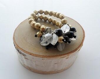 Gold Beaded Bouquet Bracelet