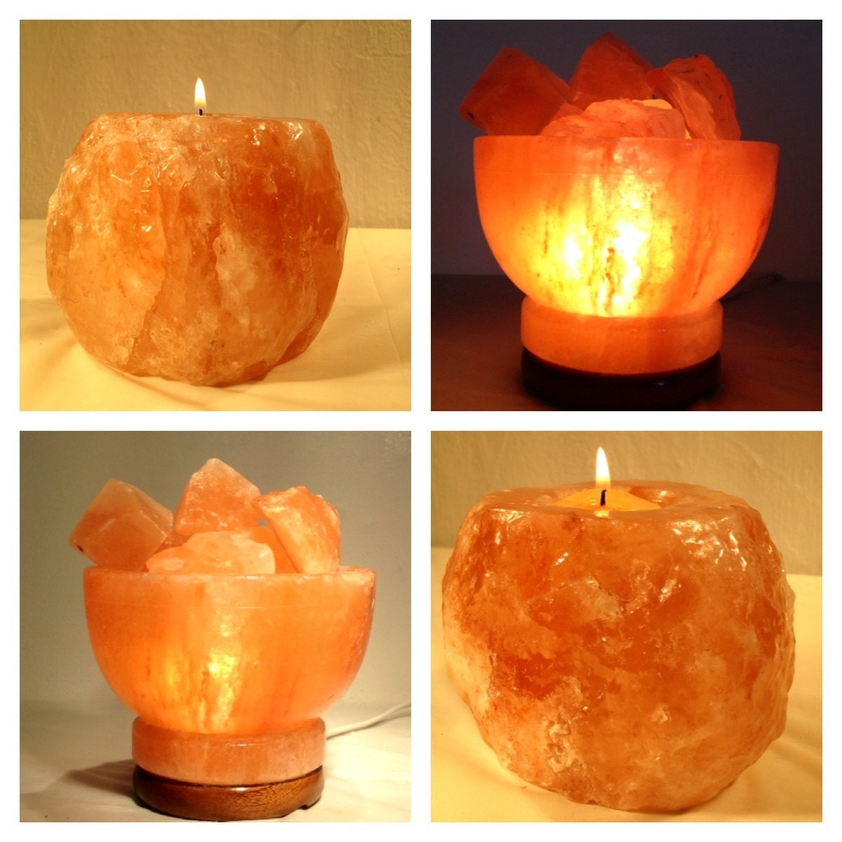 Himalayan Salt Lamp Fire Bowl : Chandeliers & Pendant Lights
