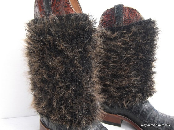 items similar to brown boho boot covers boots fur