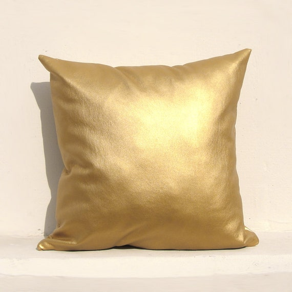 Gold pillow cover Gold Cushion Cover Holiday Decorative