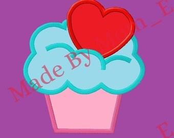 Valentines - Loving Cupcake Applique