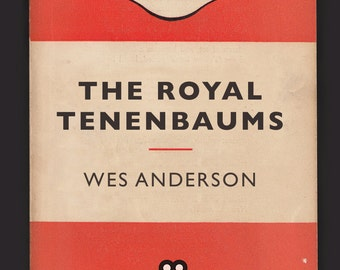 Penguin Books Mid-Century Modern Print Classic Movie Poster — The Royal Tenembaums Poster Wes Anderson — Giclee Print Ikea Ribba Size