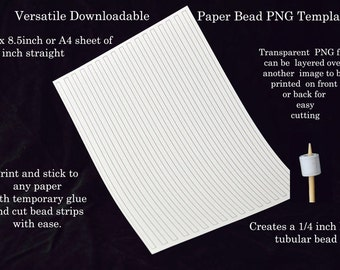 Paper bead templates quarter inch tapered uk a4 us letter for Letter paper size in inches