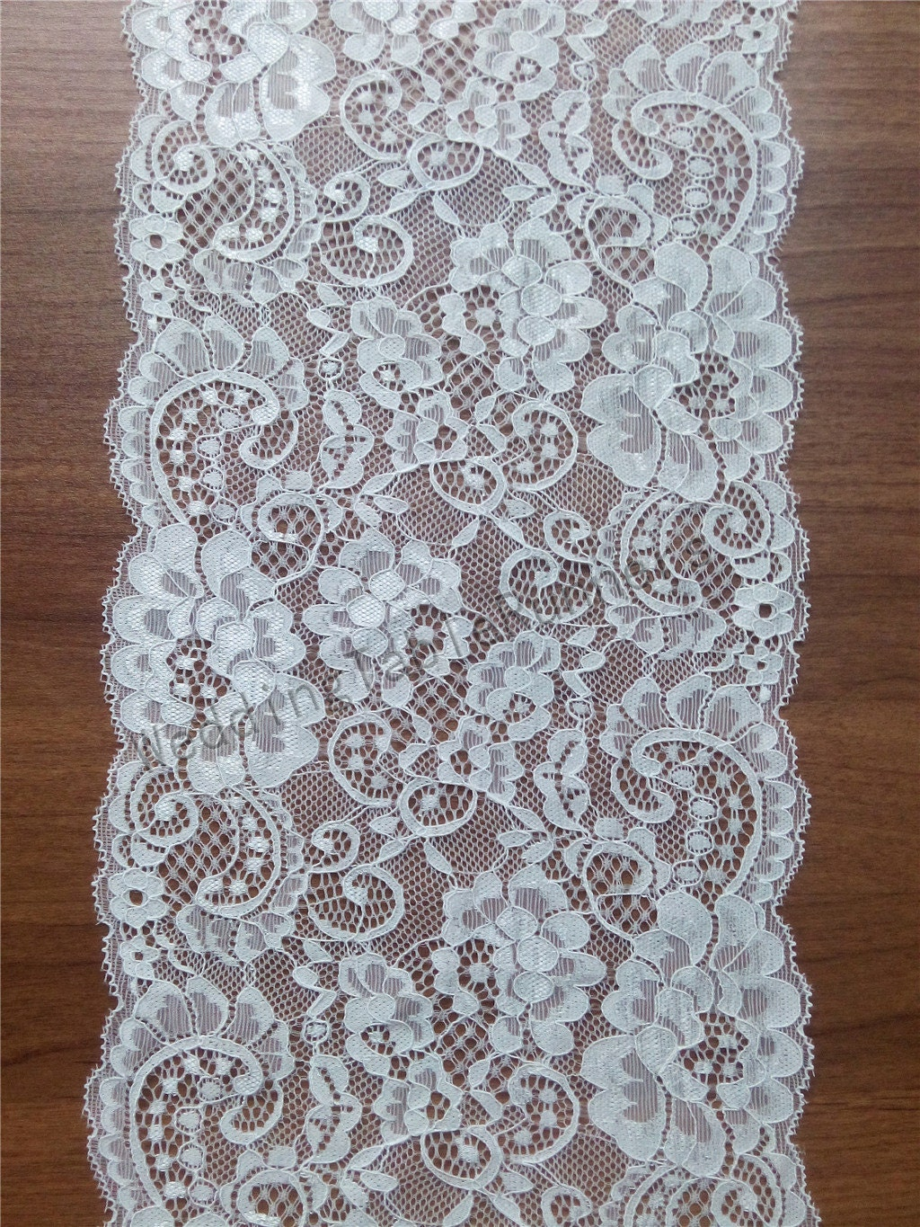 20ft ivory lace table runner 7 wedding table runners