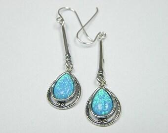 SHABLOOL earrings,sterling Silver 925 Earrings with opal stone e2261