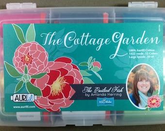 Aurifil THE COTTAGE GARDEN Thread Collection by Amanda Herring - 12 lg spools 50 wt 100% Mako Cotton Thread