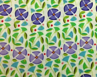 Windham ENCHANTED (PERIWINKLE) 100% Cotton Fabric for Quilting - sold by 1/2 yard