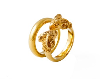 Rams Head Ring - Gold