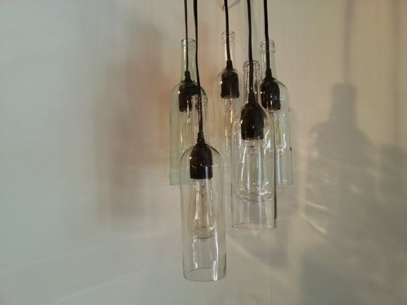 Wine bottle chandelier for How to make your own wine bottle chandelier