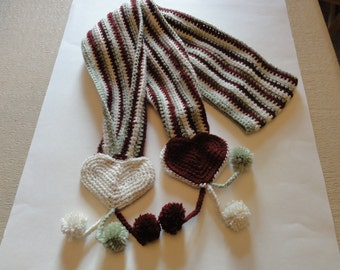 Funky Crocheted Valentine Scarf