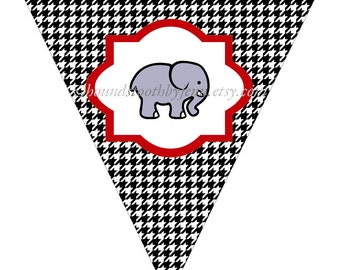 sec logo pennant printables sec school by houndstoothbyjenn
