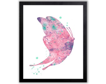 Butterfly Painting, Watercolor Butterfly Art, Wildlife Home Decor - BU003