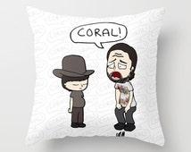 The Walking Dead, Rick Grimes, Coral, Walking Dead gift, Walking dead illustration, walking dead cartoon,