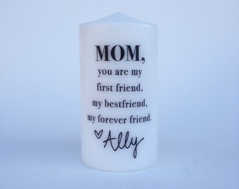 Best Friend Mom Candle with Custom Signature