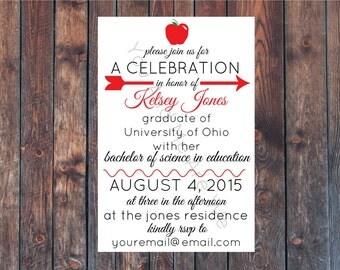 Printable Teacher Graduation Party Invitation