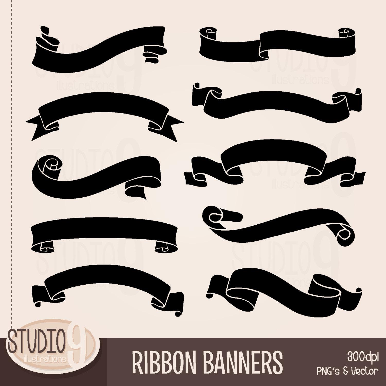 RIBBON BANNER Clipart: Banner Clip Art Ribbon Banner