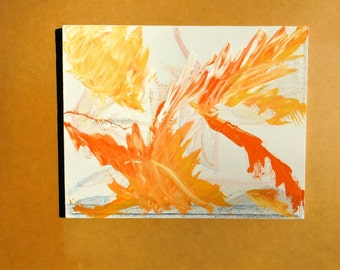 """Original Abstract Painting. 16 x 20 on Stretched Canvas. """"Fall Wonderlust"""""""