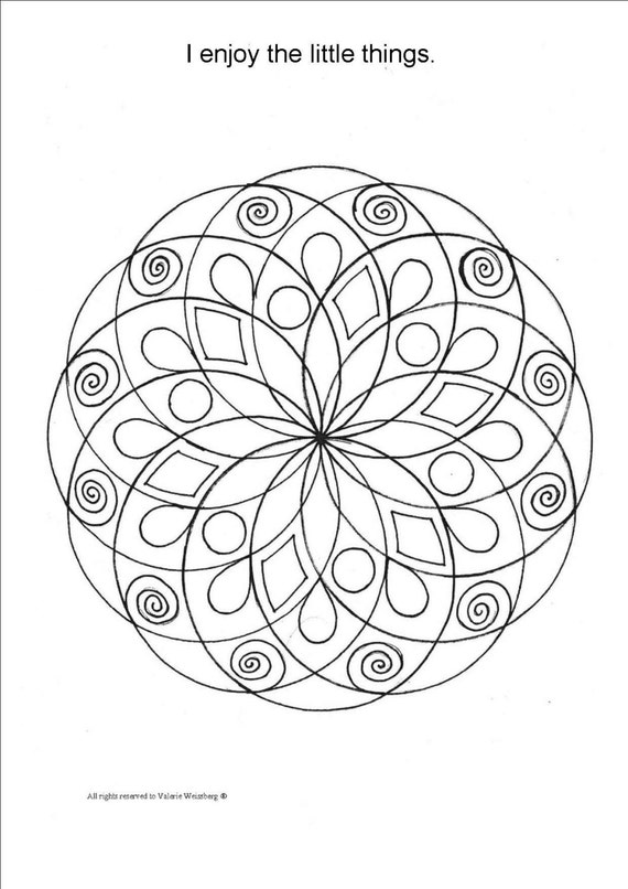 mandala coloring book art therapy healing art relaxing
