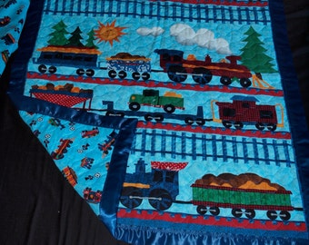 Train blanket and matching sheet