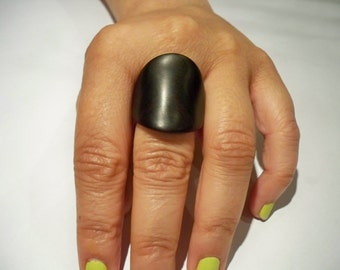 ebony wooden ring,made to order, for women, jewelry