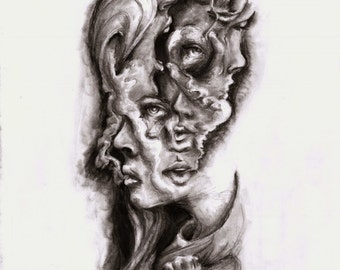 """Art Print: """"Hands and Faces 2"""" 