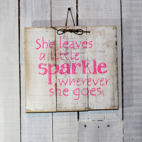 Items similar to rustic wood pallet sign little girls for Signs for little girl rooms