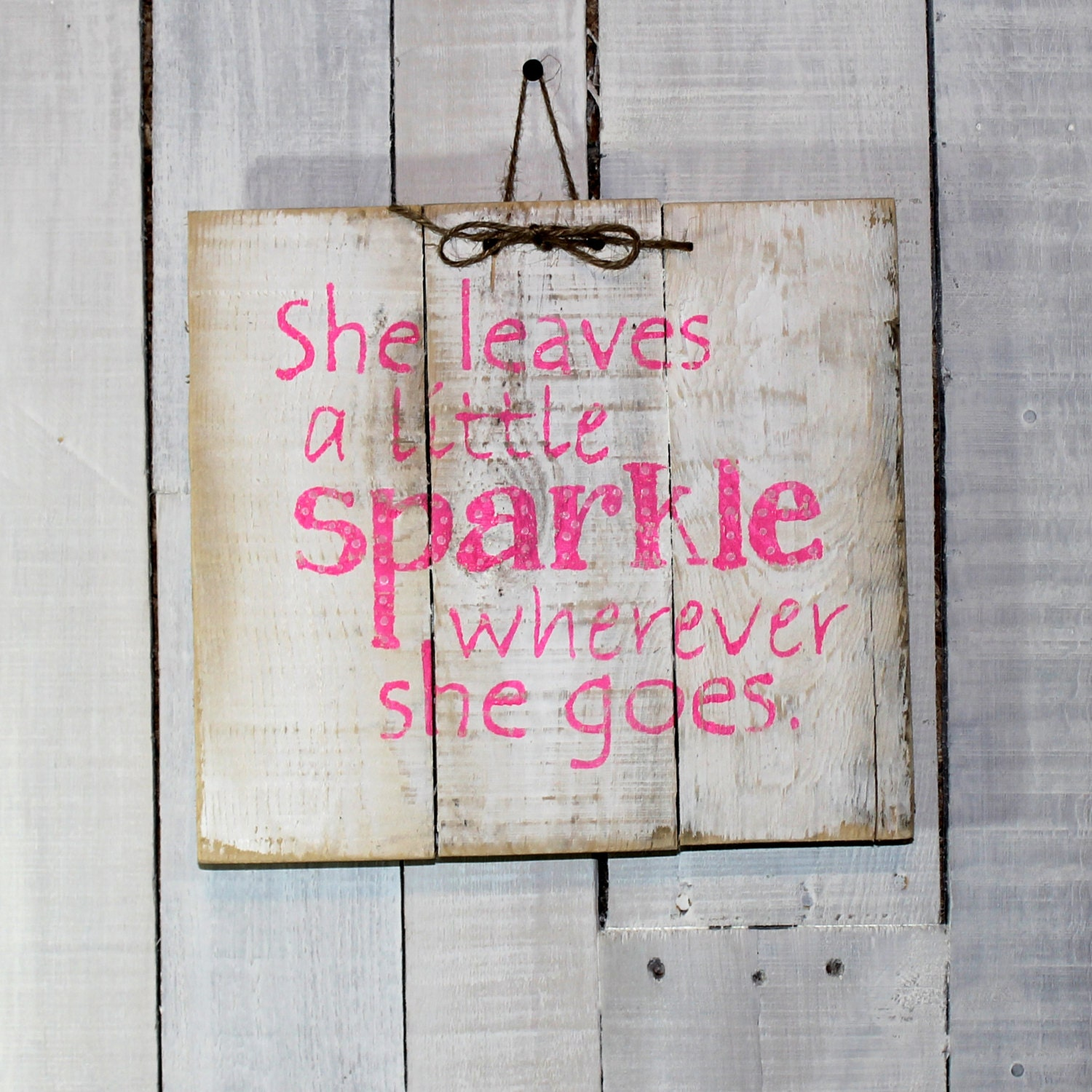Rustic wood pallet sign little girls room by for Signs for little girl rooms