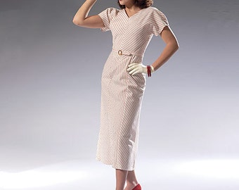 McCall's Pattern M7153 Misses' Dress and Belt