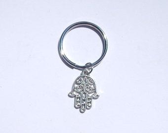 Hamsa Keychain, Hamsa Hand Keychain, Hand of Fatima Keychain, Hand of Fatima, Hamsa, Yoga Keychain, Hand of Fatima Protection, Hamsa Hand