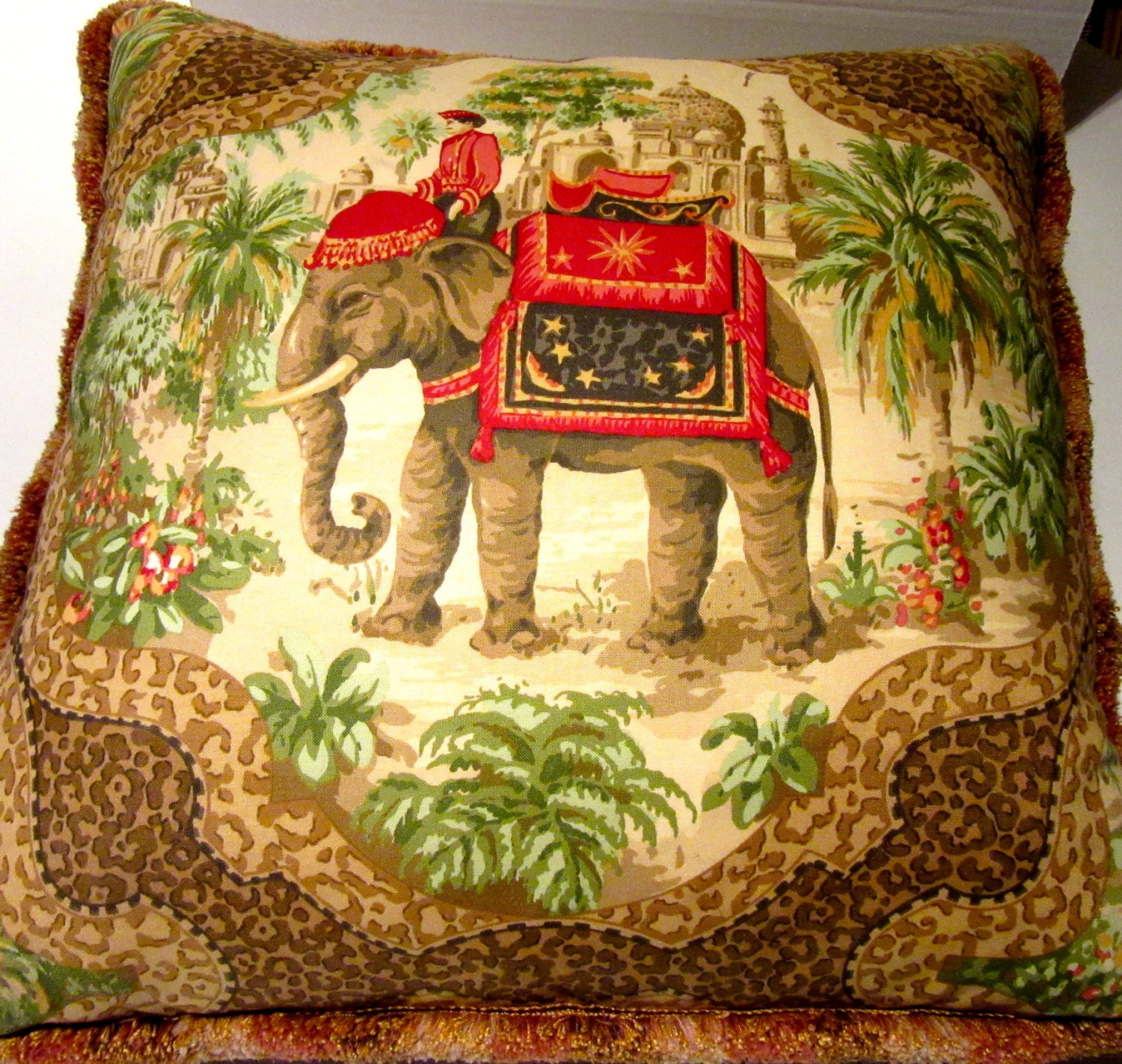 Oriental Pillows Home Decor Elephant By Frenchtwistatlanta