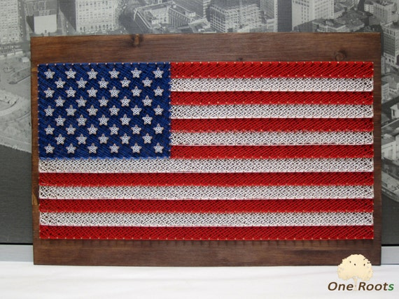String Art American Flag Usa Wall Art By Oneroots On Etsy