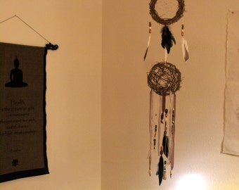 Natural Wicker Dreamcatcher with Wicker ball