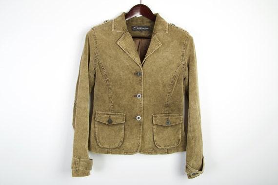 Olive Green Jacket Corduroy Jacket Women's Jacket Green