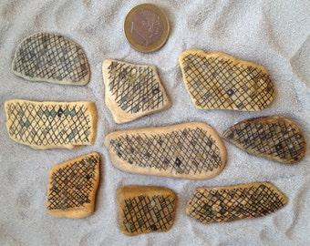 9 small decoreted pebbles