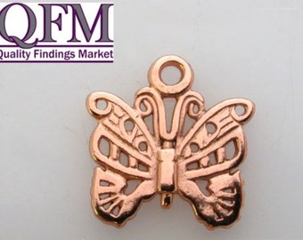8 pcs Butterfly Pendant in Pewter, size 17x15mm Available in 7 different finishes