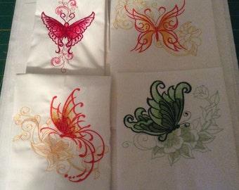 Sketched butterflies