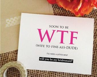 Funny bridesmaid Etsy