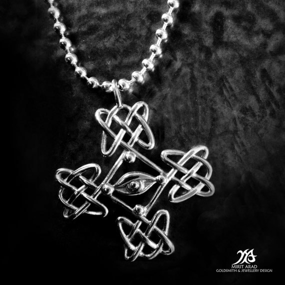 Dave Gahan Cross Tattoo Sterling Silver Handmade Pendantceltic