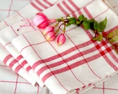 Reserved for K - 2 Vintage French Country Tea Towels - Pure Metis Linen - Unused - No Monogram - Free Shipping within the USA