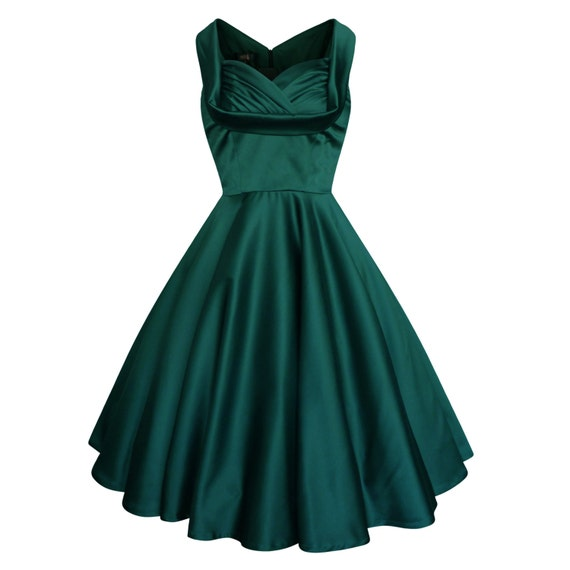 lady mayra elsa green christmas dress vintage rockabilly