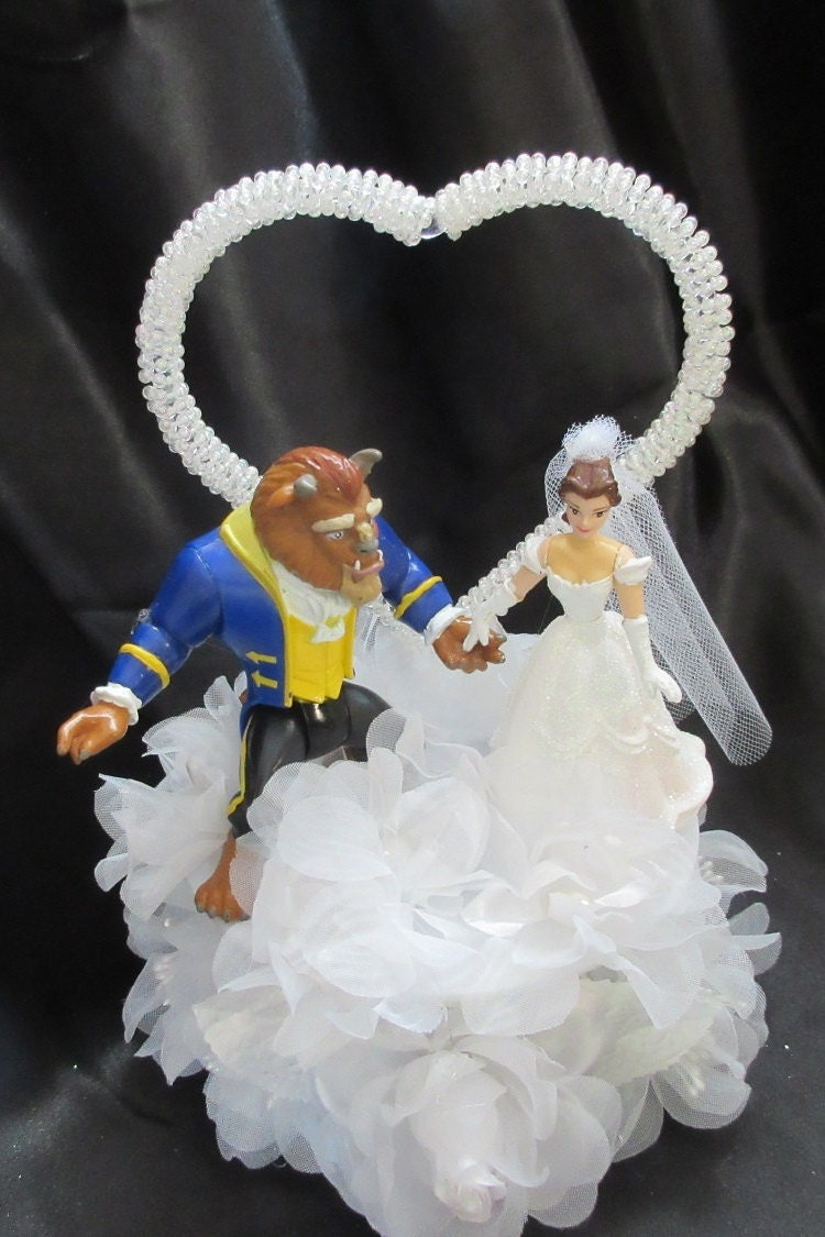 Cake Topper Disney La Bella Y La Bestia : Disney bella e la bestia Wedding Cake Topper
