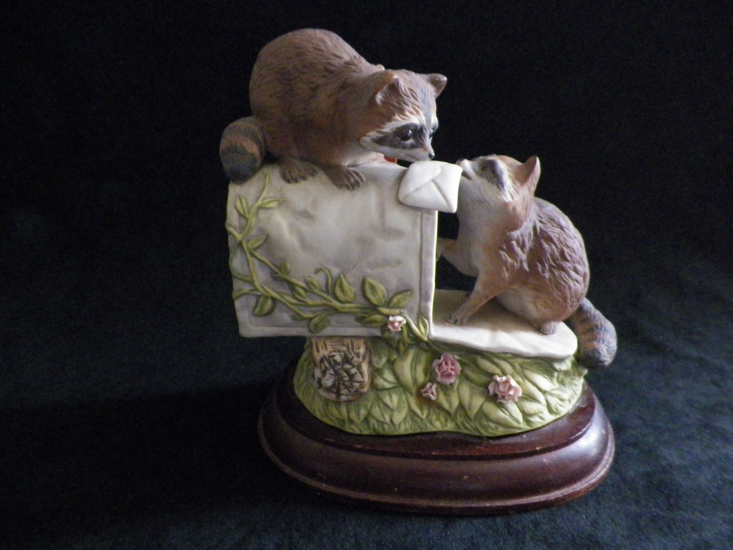 Raccoon Figurine Homco Home Interiors Vintage By