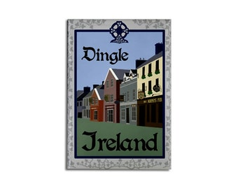 "Magnet: Dingle Ireland, 2 1/8"" x 3 1/8"""
