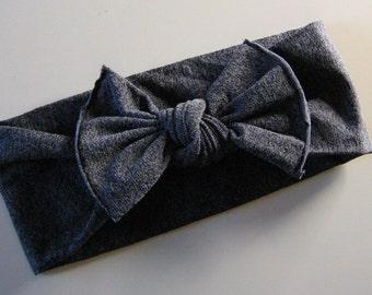 Heather Gray Knot Bow