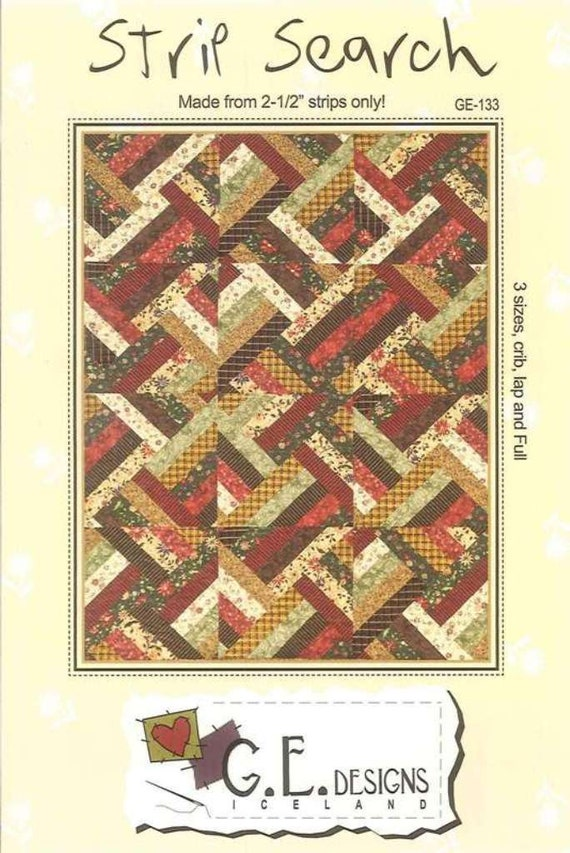Snap Ge Designs Strip Search Jelly Roll Precut Quilt Pattern Photos