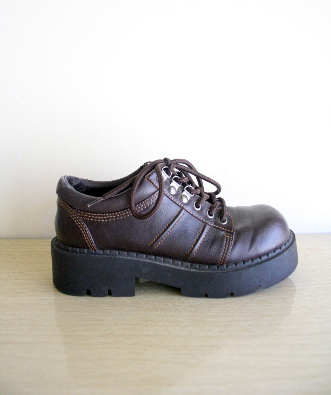 90s platform shoes doc marten style chunky by downhousevintage