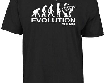 Violin player, Evolution Violinist t-shirt