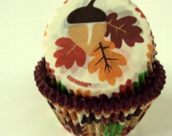 Fall Leaf Baking Cups