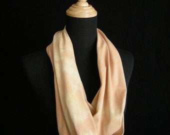 Cotton Naturally Dyed Infinity Scarf -  Madder Root and Osage Orange