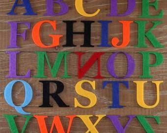 Georgia Font Alphabet Set 3mm Felt Upper Case Letters A-Z 26 Characters